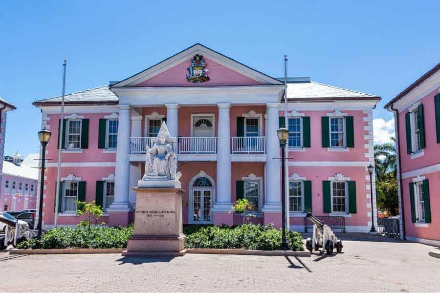 Nassau Bahamas Pink Building