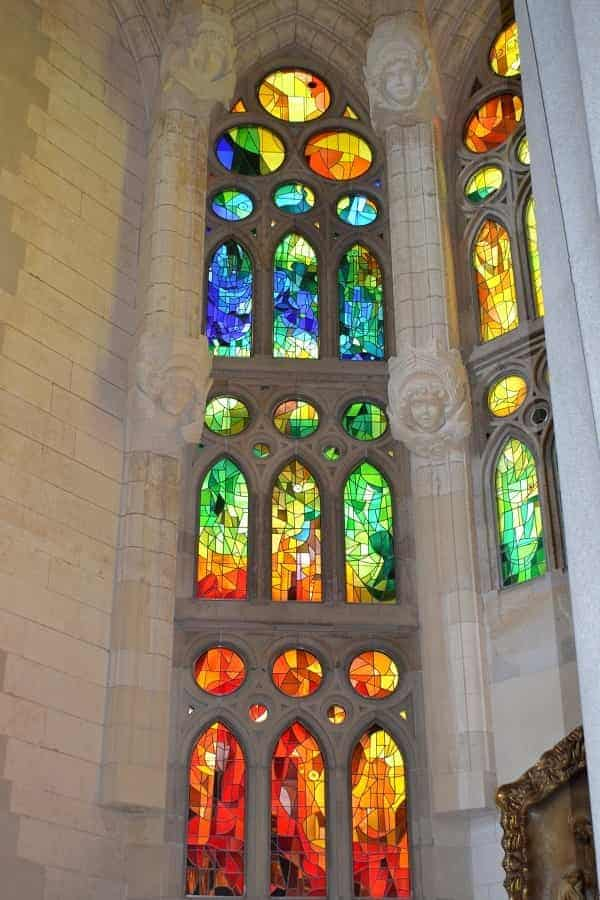 Stained Glass in Sagrada Familia