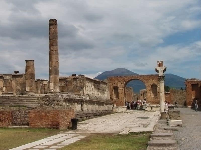 Touring Pompeii