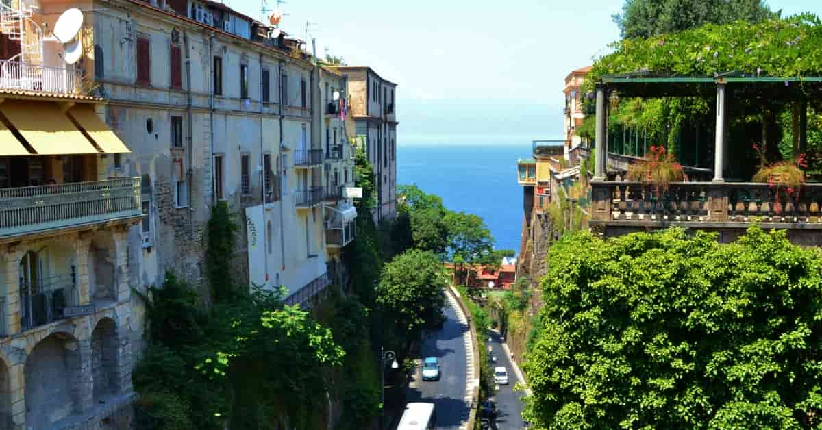 Sorrento view of Bay of Naples