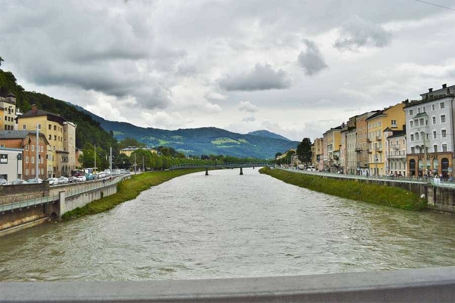 RIver running through Salzburg
