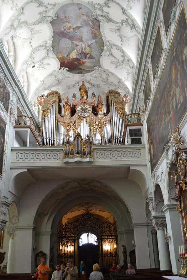Pipe Organ inside Salzburg Cathedral