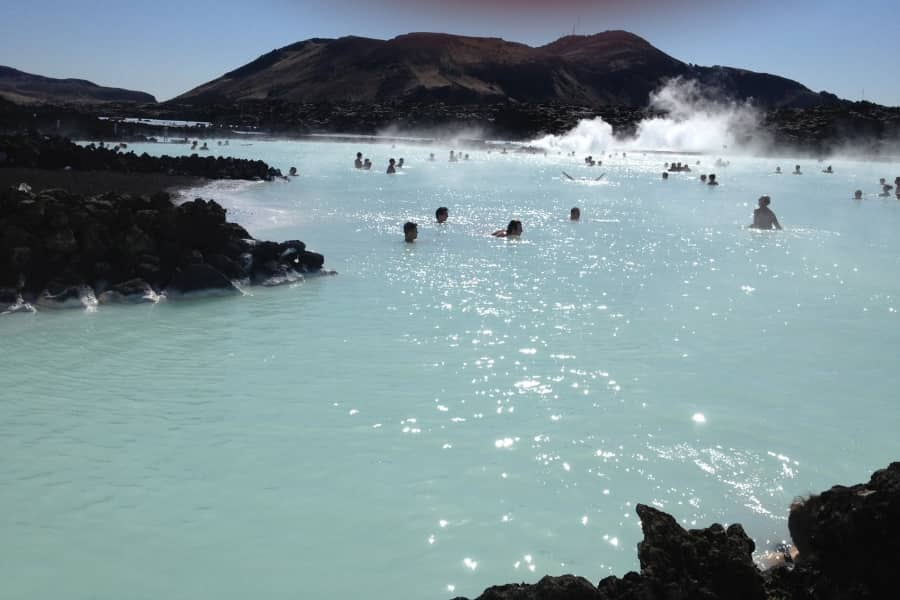 Geothermal Pools in Iceland during Summer