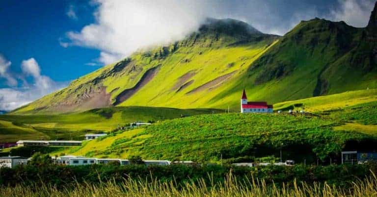 Beautiful hills in Iceland