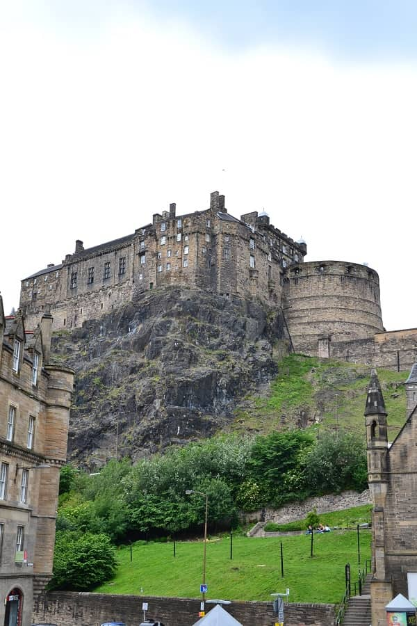 Edinburgh Castle in Scotland UK