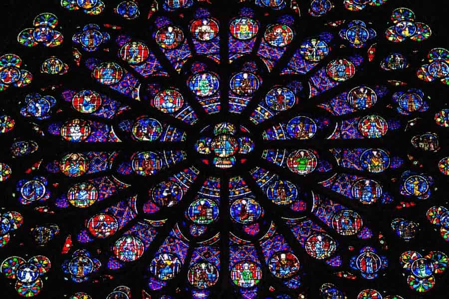 Notre Dame Stained Glass Rose Window