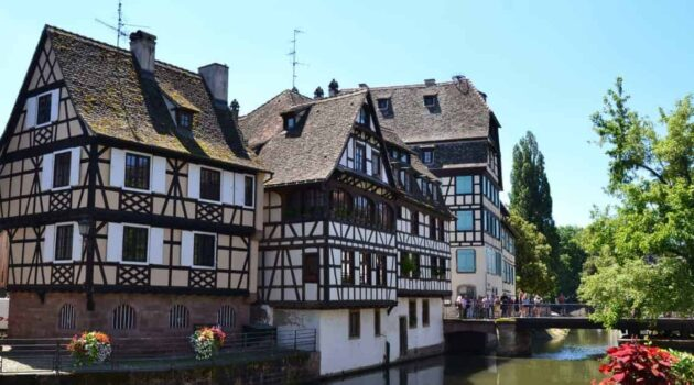 Medieval architecture in Strasbourg France