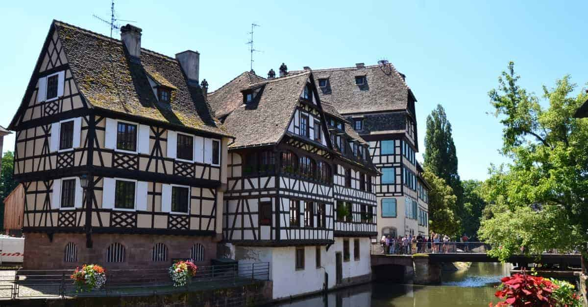 Medieval architecture in Strasbourg France