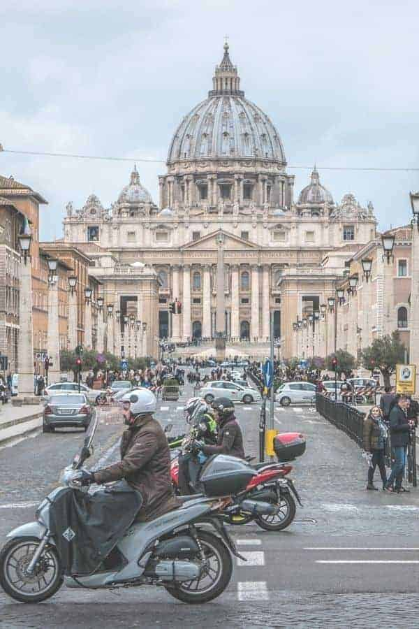 Traffic in Vatican City