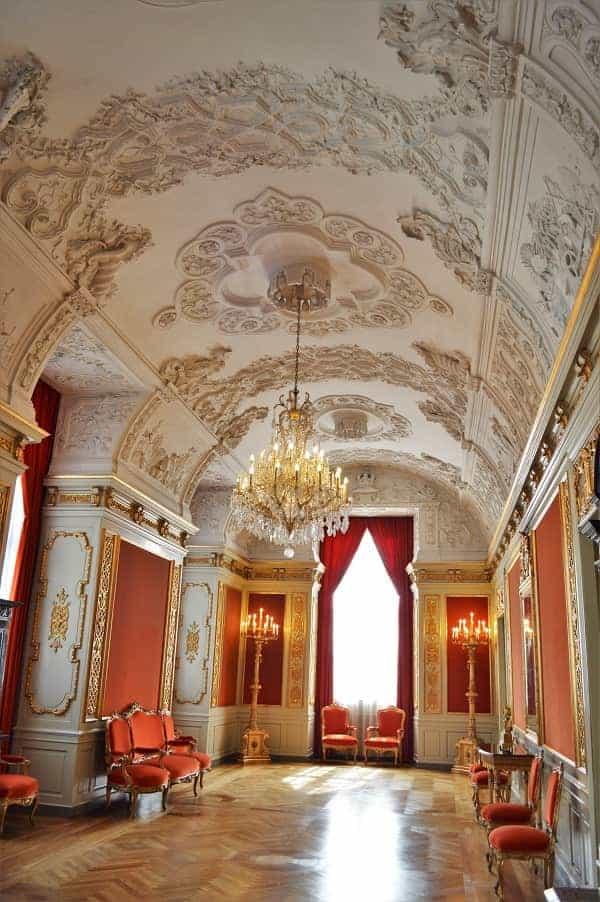 Interior room at Christianborg Palace
