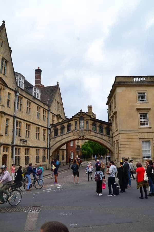 Bridge of Sighs in Oxford England