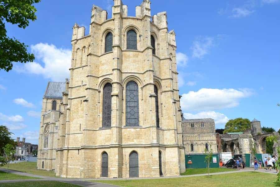 Canterbury Cathedral along Monastery Ruins