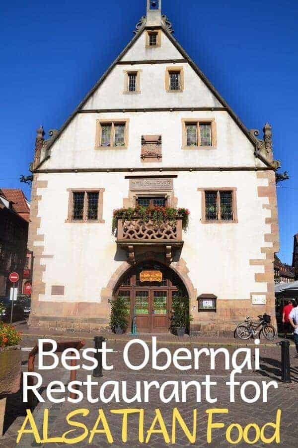 Best Obernai Restaurant for Alsatian Food