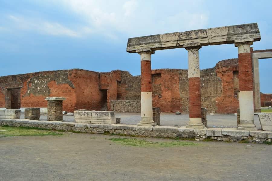 Ancient Pompeii Brick Building Ruins