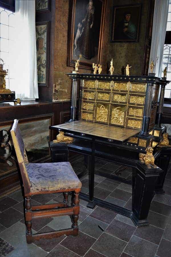 Ebony Desk in Rosenborg Castle