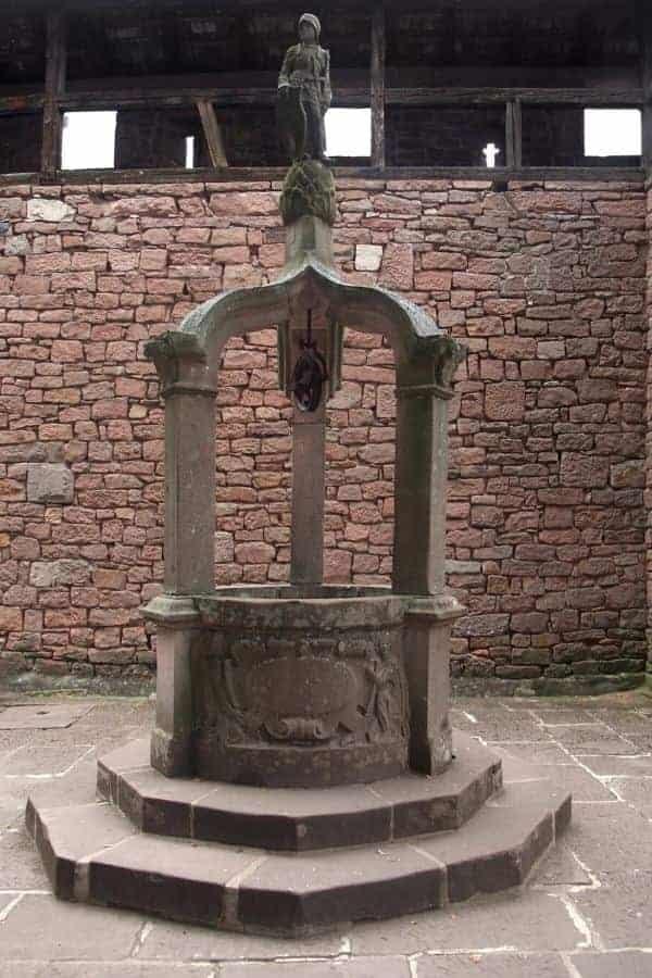 Ancient Well at Haut-Kœnigsbourg Castle