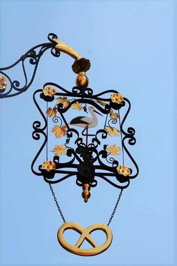 Alsace Stork Sign