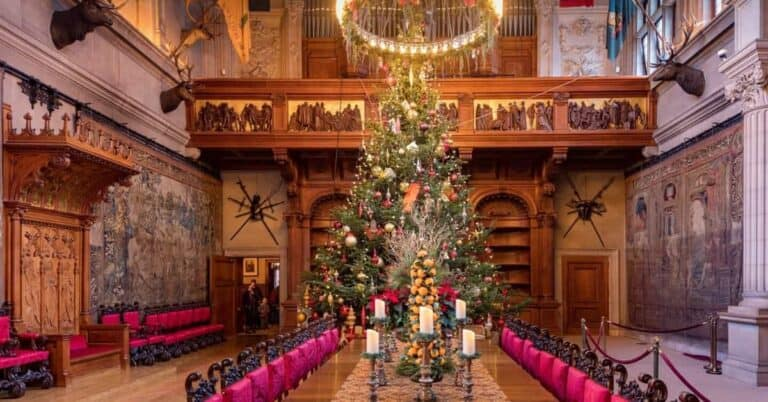 Biltmore House Dining Room at Christmas