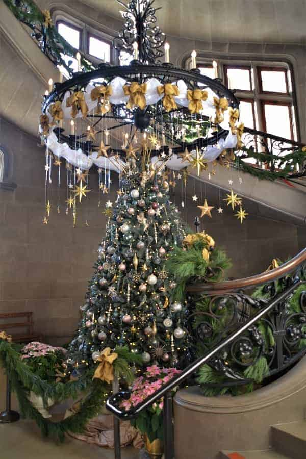 Biltmore Christmas Tree near Staircase