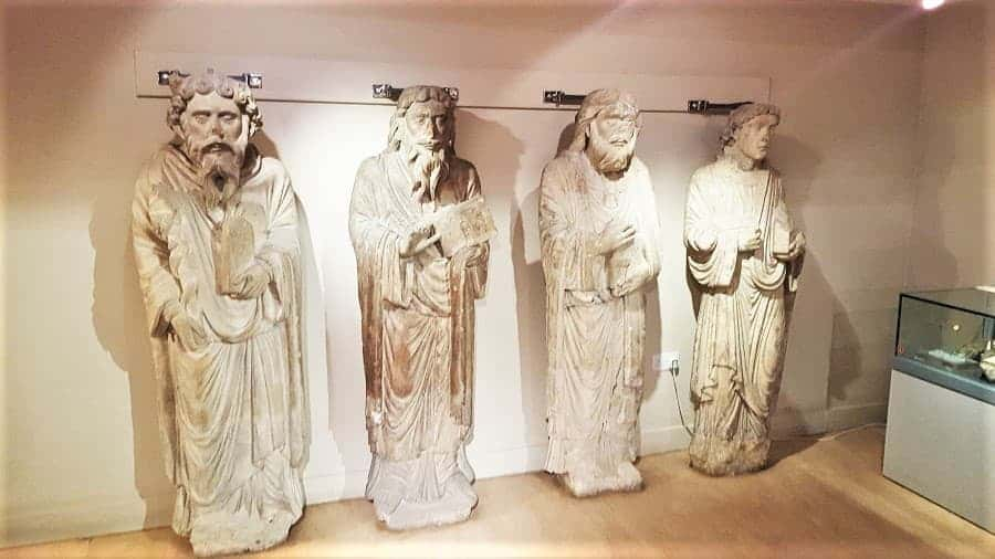 Roman ruins in Yorkshire Museum