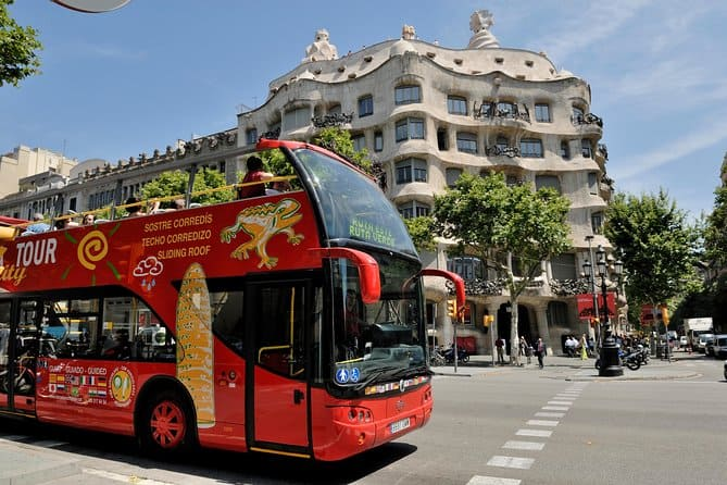 Bus tour of Barcelona Spain