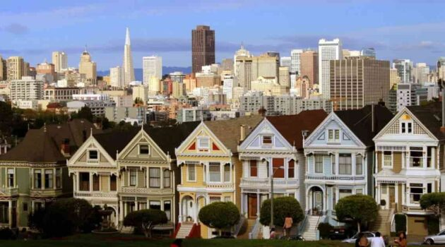 Painted Ladies Victorian Homes in San Francisco