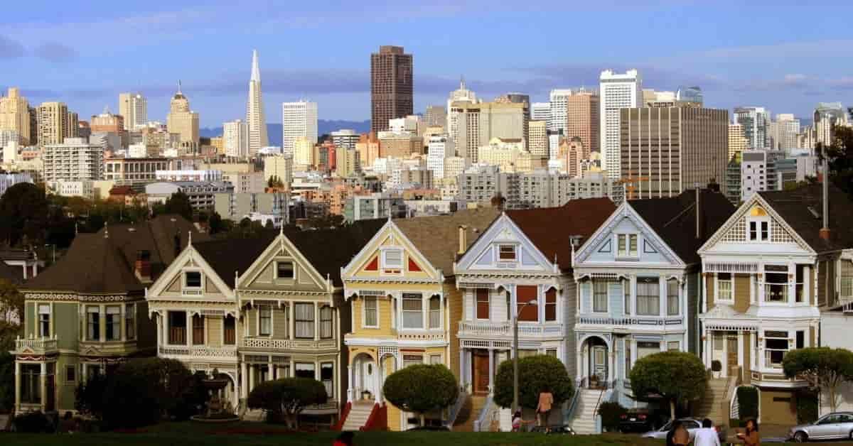 Painted Ladies Victorian Homes in San Francisco