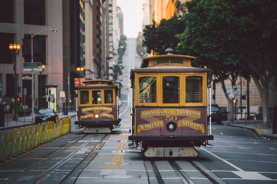 Taking a Cable Car in San Francisco