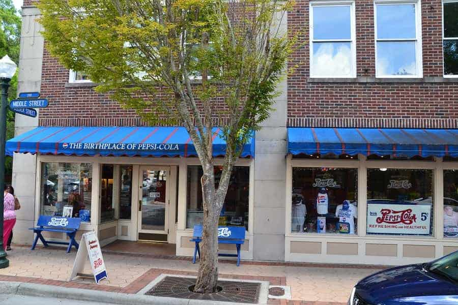 Birthplace of Pepsi Cola in New Bern