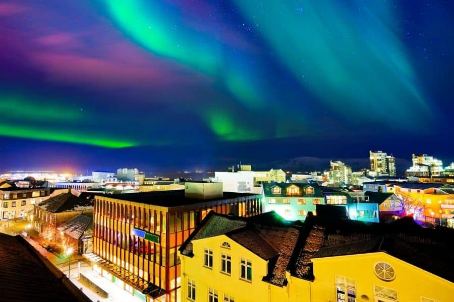 Seeing Northern Lights in Reykjavik
