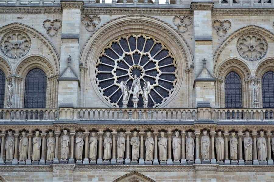 Gallery of Kings on Notre Dam Cathedral
