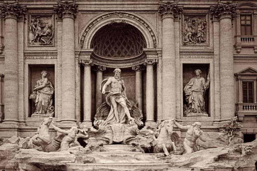 Trevi Fountain Statues