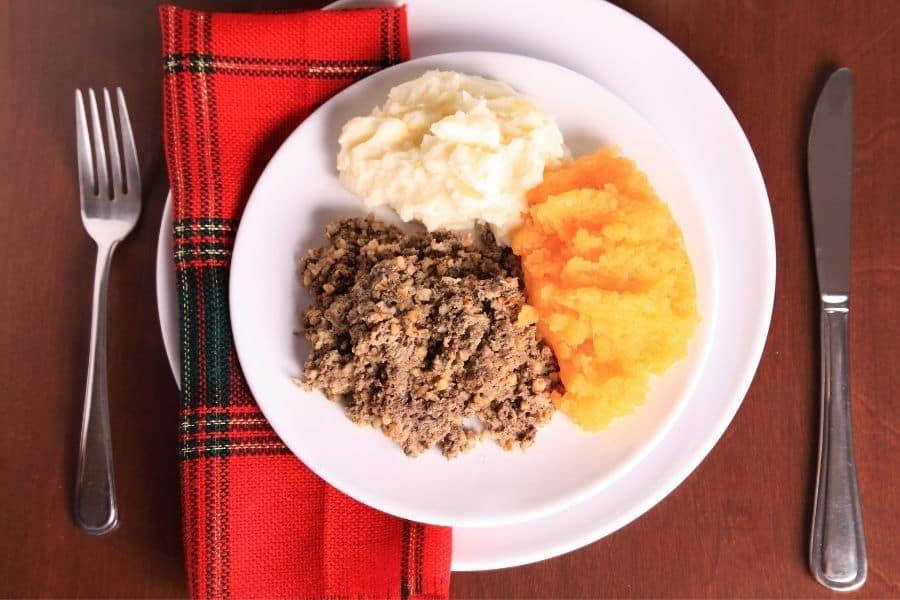 Haggis in Scotland