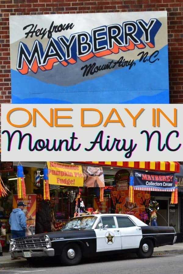 One Day in Mount Airy, NC, the Real Mayberry