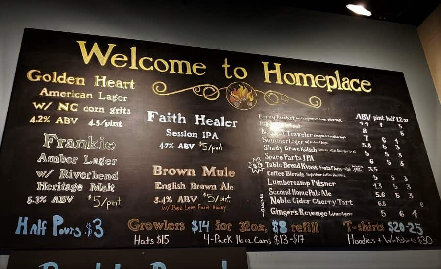 Homeplace Brewery Beers