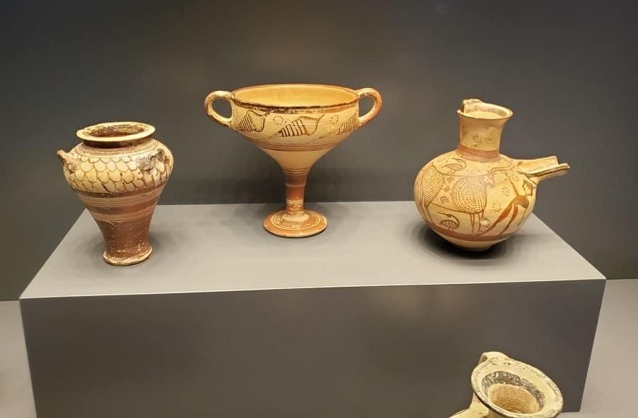 ancient pottery at Getty Villa