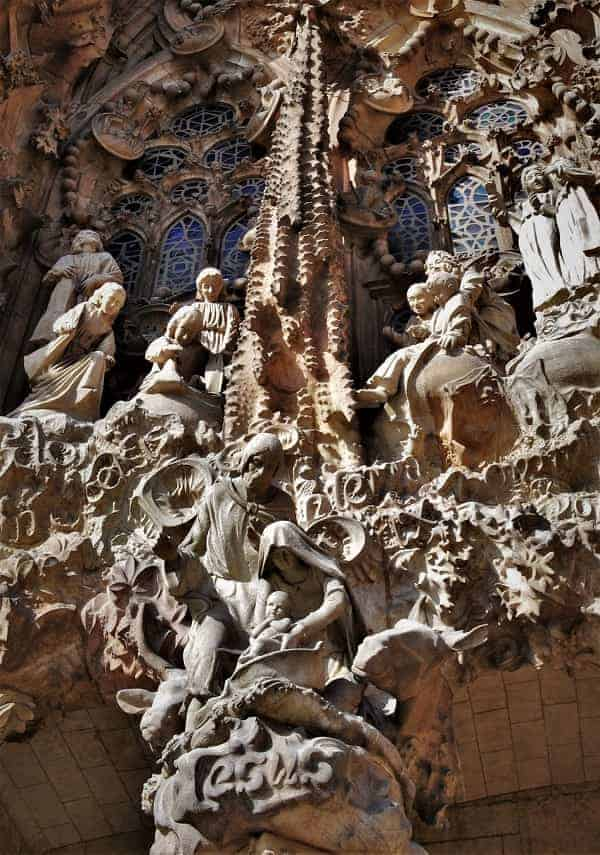 Birth Facade on Sagrada Familia