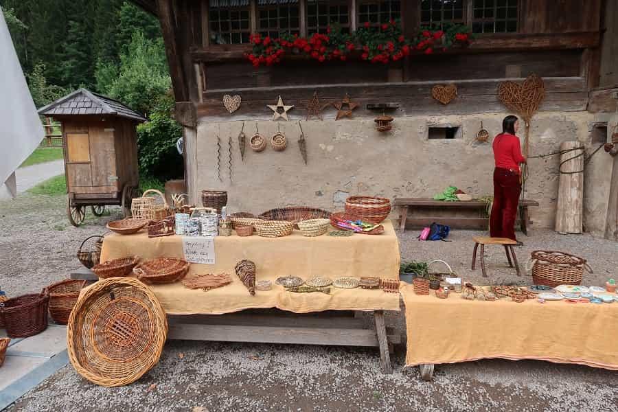 Basketweaving in Black Forest Museum